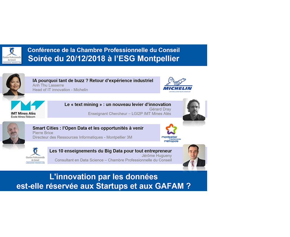 Conférence : l'innovation par les Data est-elle réservée aux startups & GAFA ?