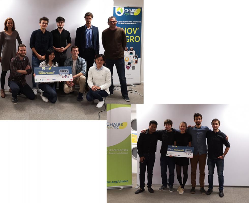 Winners of the 2018 Innov'Agro Challenge