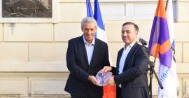 """Photo de la labellisation de Montpellier """"Ville et métiers d'art"""" ©Damerdji"""